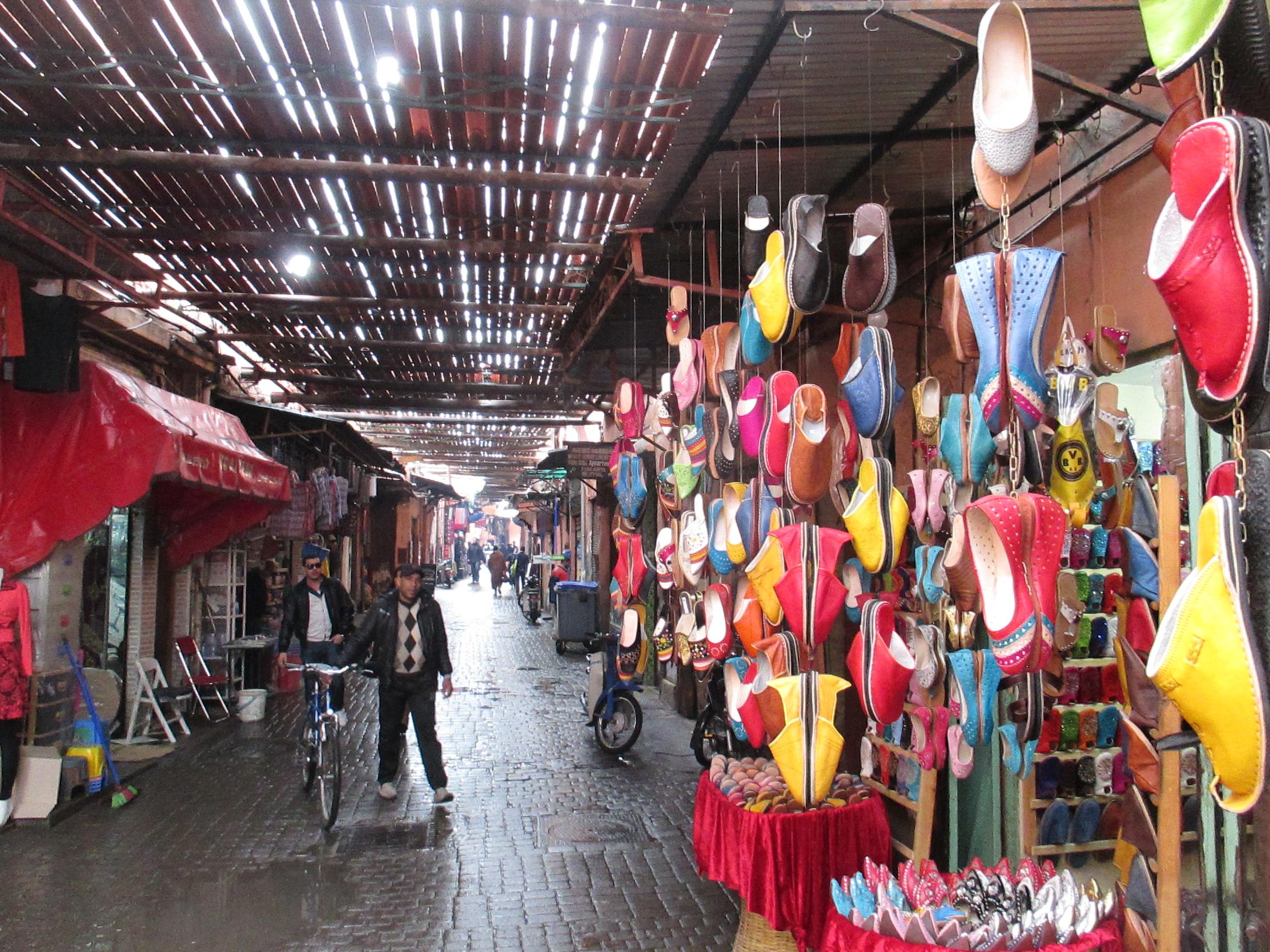 Die Souks, Marrakesch