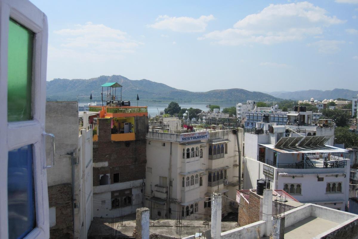 Blick aus meinem Zimmer im Anjani Hotel