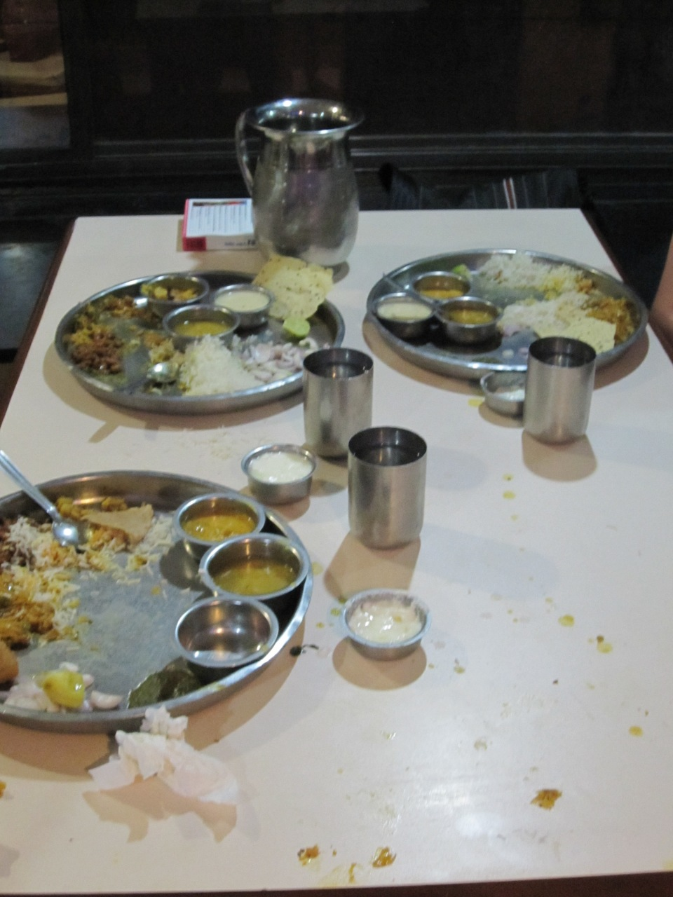 Thali in der Natraj Lodge