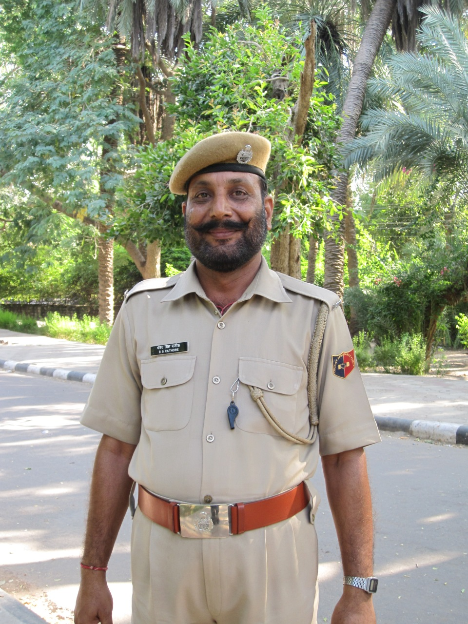 Polizist im Park