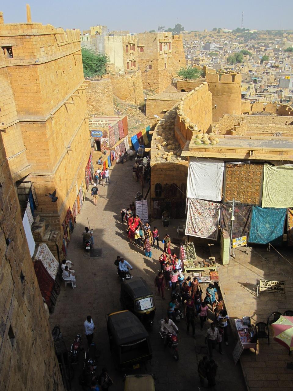 Jaisalmer, Blick vom Fort