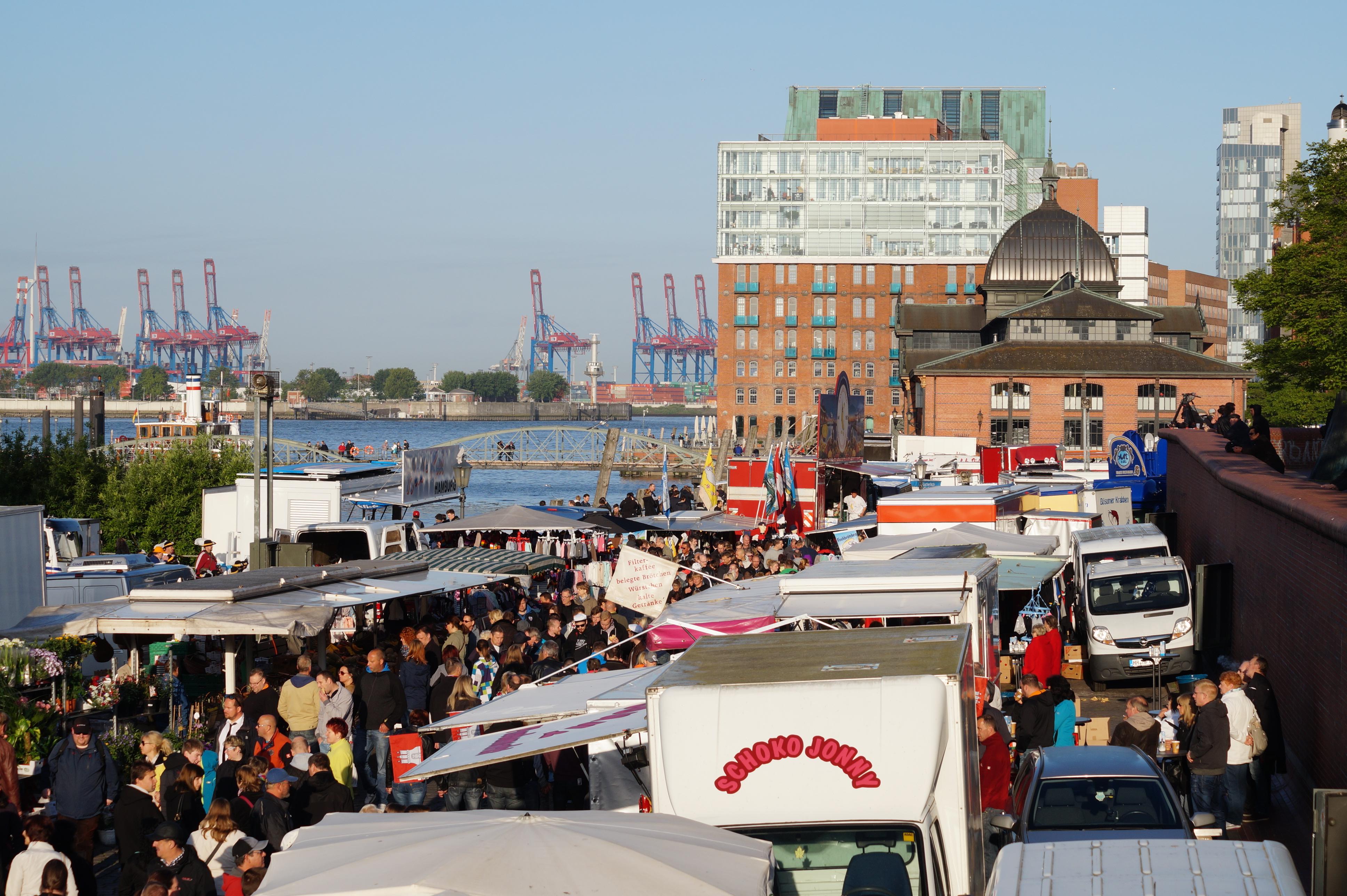 Fischmarkt hamburg moin gottundbratkartoffeln for Am fischmarkt
