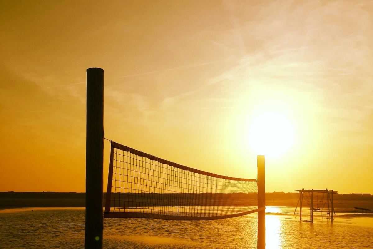 Sonnenaufgang, Volleyball
