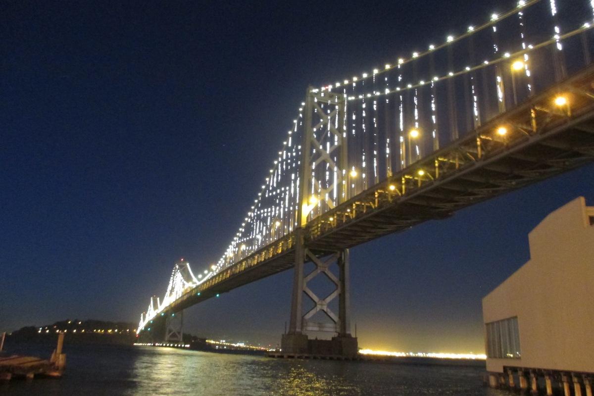 Bay bridge lights