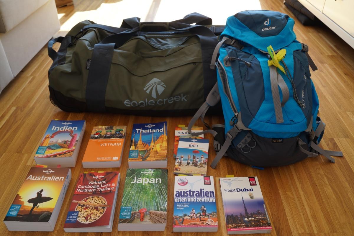Weltreise Gepäck