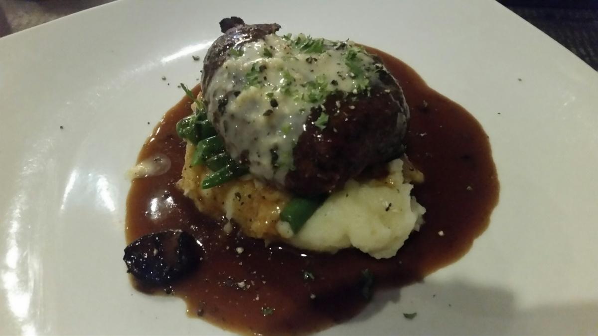 Steak mit Kartoffelpüree und grünen Bohnen - hmmm