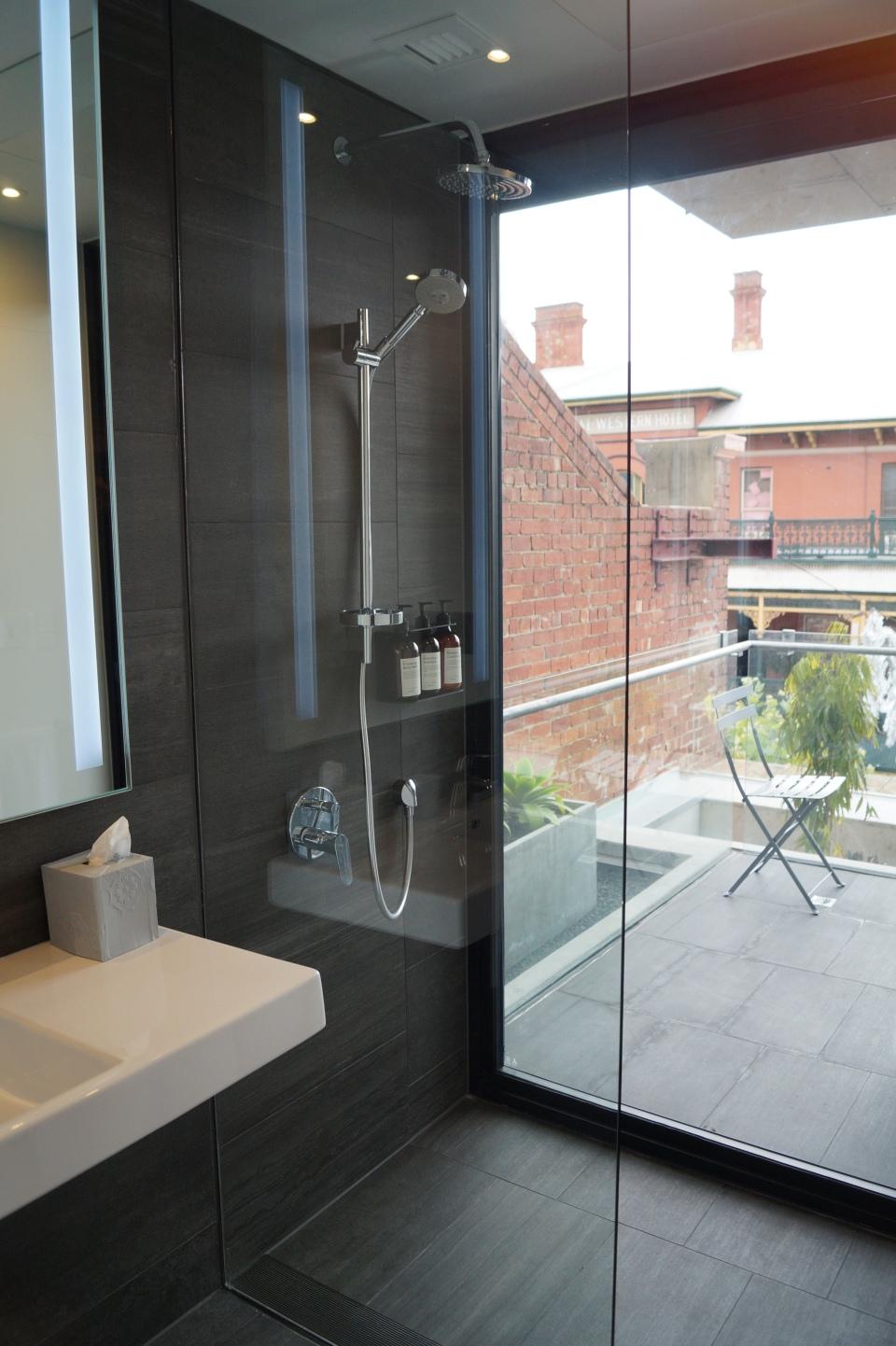 Duschen mit Aussicht