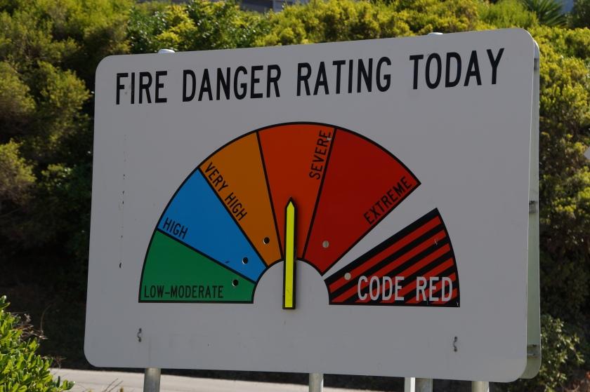 Fire danger rating severe