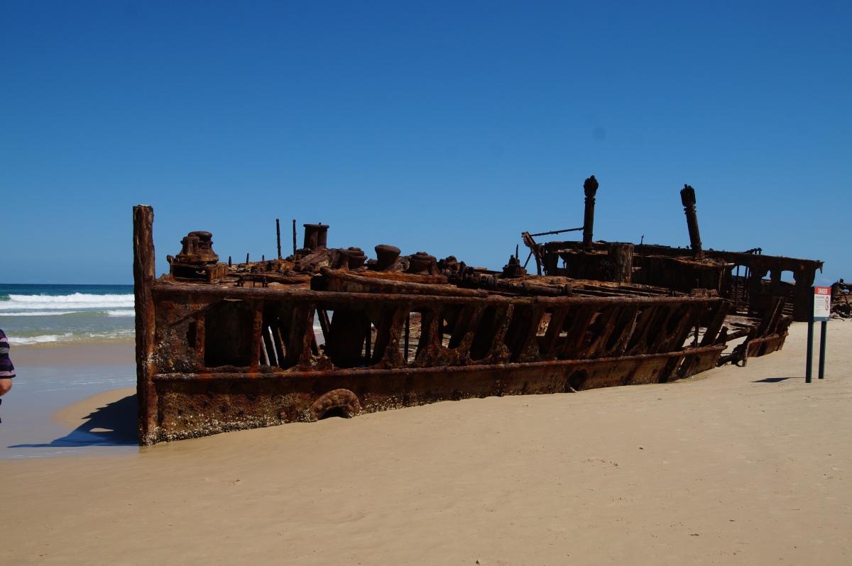 Wrack der Maheno am 75 Mile Beach