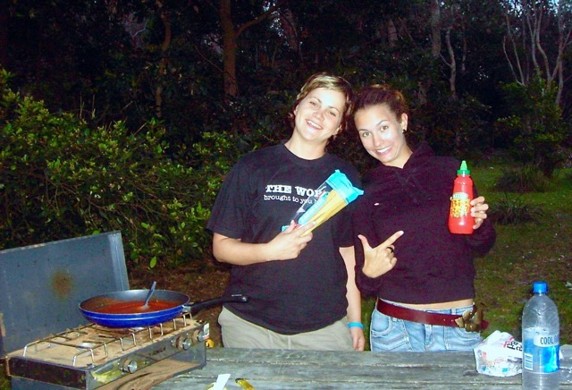 Backpacker Nahrung. Mit Anna, 2005