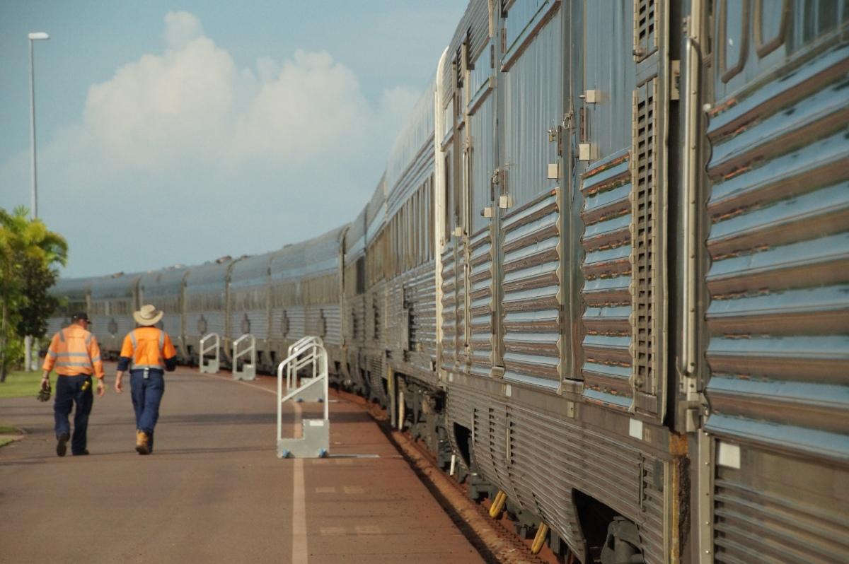 Ghan Train, Darwin, Australien