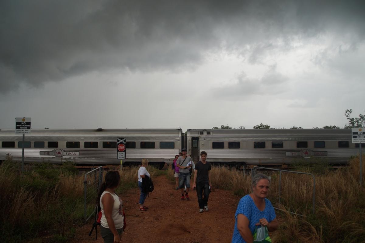 Evakuierung aus dem Ghan Train